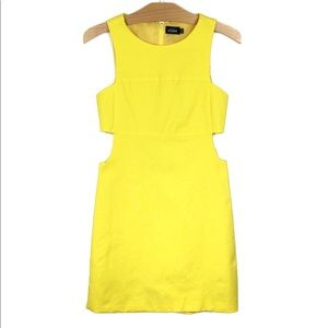 Kate Spade SATURDAY Neon Yellow Mod Cut Out Dress